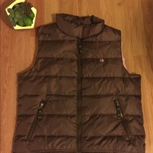 DUCK HEAD JEANS Brown/Pink Puffer Vest